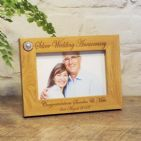 Personalised 25th Silver Wedding Anniversary Photo Frame 6x4